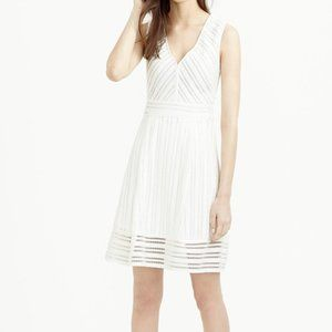 Fitted white J. Crew summer cocktail dress